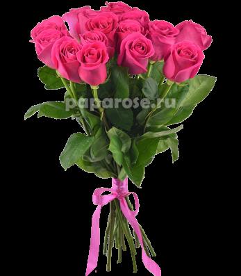 15 ярко розовых роз